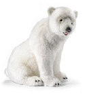 peluche-anima Peluche Ours polaire assis 45 cm