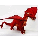 peluche-anima Peluche dragon rouge 70 cm