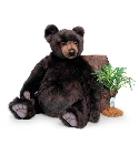 Peluche ours brun assis Anima 70 cm peluche-anima